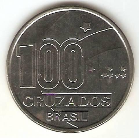Catálogo Vieira Nº 26 - 100 Cruzados (100 Anos da Abolição Homem)  (Reforma Monetária) (Aço) - Numismática Vieira