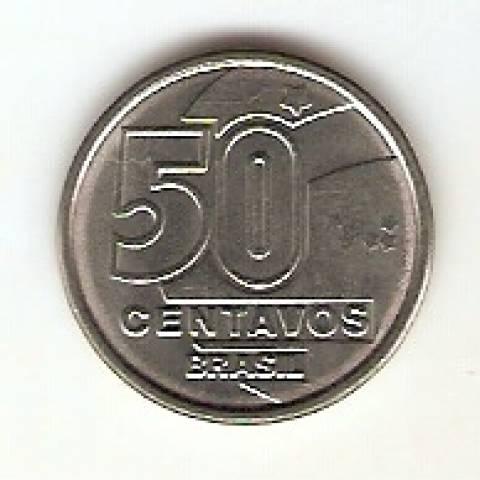Catálogo Vieira Nº 7 - 50 Centavos (Rendeira) (Reforma Monetária) (Aço)