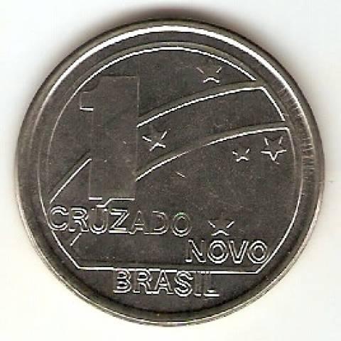 Catálogo Vieira Nº 9 - 1 Cruzado Novo (República) (Reforma Monetária) (Aço) - Numismática Vieira
