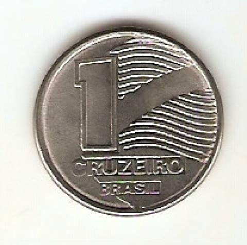 Catálogo Vieira Nº 1 - 1 Cruzeiro (Bandeira do Brasil Estilizada)(Reforma Monetária) (Aço) - Numismática Vieira