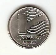 Catálogo Vieira Nº 1 - 1 Cruzeiro (Bandeira do Brasil Estilizada)(Reforma Monetária) (Aço)