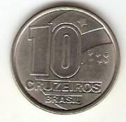 Catálogo Vieira Nº 5 - 10 Cruzeiros (Seringueiro) (Reforma Monetária) (Aço)