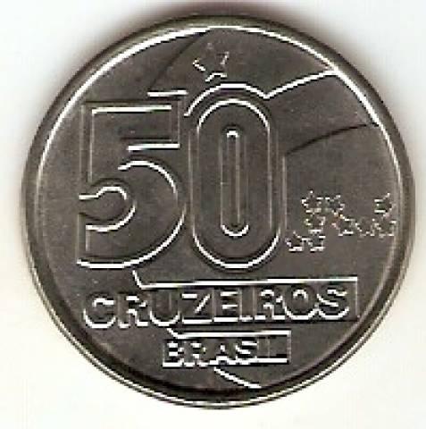 Catálogo Vieira Nº 10 - 50 Cruzeiros (Baiana com Tabuleiro)(Reforma Monetária) (Aço) - Numismática Vieira