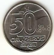 Catálogo Vieira Nº 10 - 50 Cruzeiros (Baiana com Tabuleiro)(Reforma Monetária) (Aço) | Numismática Vieira