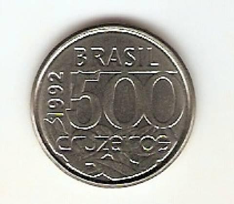 Catálogo Vieira Nº 13 - 500 Cruzeiros (Tartaruga) (Reforma Monetária) (Aço) - Numismática Vieira