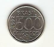 Catálogo Vieira Nº 13 - 500 Cruzeiros (Tartaruga) (Reforma Monetária) (Aço)