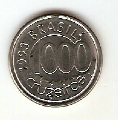 Catálogo Vieira Nº 16 - 1000 Cruzeiros (Peixe Acará)(Reforma Monetária) (Aço) - Numismática Vieira