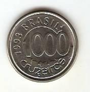 Catálogo Vieira Nº 16 - 1000 Cruzeiros (Peixe Acará)(Reforma Monetária) (Aço) | Numismática Vieira