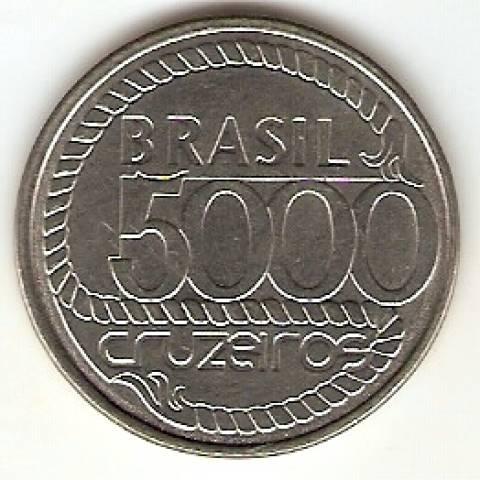Catálogo Vieira Nº 17 - 5000 Cruzeiros (Tiradentes)(Reforma Monetária) (Aço) - Numismática Vieira