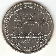 Catálogo Vieira Nº 17 - 5000 Cruzeiros (Tiradentes)(Reforma Monetária) (Aço)