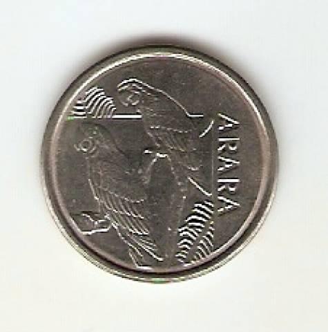 Catálogo Vieira Nº 1 - 5 Cruzeiros Reais (Arara)(Reforma Monetária) (Aço) - Numismática Vieira
