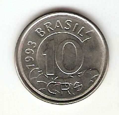 Catálogo Vieira Nº 3 - 10 Cruzeiros Reais (Tamanduá) (Reforma Monetária) (Aço) - Numismática Vieira