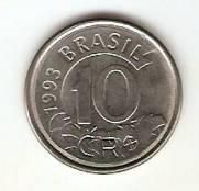 Catálogo Vieira Nº 3 - 10 Cruzeiros Reais (Tamanduá) (Reforma Monetária) (Aço) | Numismática Vieira