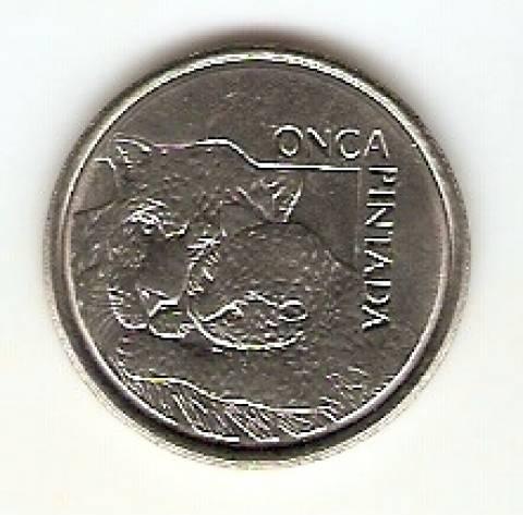 Catálogo Vieira Nº 5 - 50 Cruzeiros Reais (Onça Pintada) (Reforma Monetária) (Aço) - Numismática Vieira