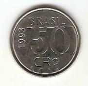 Catálogo Vieira Nº 5 - 50 Cruzeiros Reais (Onça Pintada) (Reforma Monetária) (Aço) | Numismática Vieira