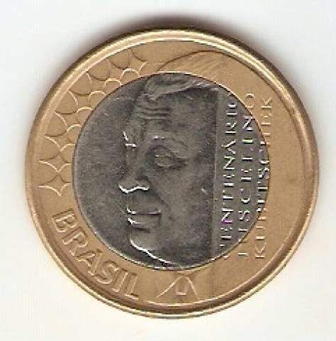 Catálogo Vieira Nº 94 - 1 Real (Juscelino Kubitschek) (Bimetalica) - Numismática Vieira
