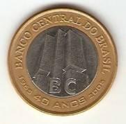 Catálogo Vieira Nº 95 - 1 Real (Banco Central) (Bimetalica)