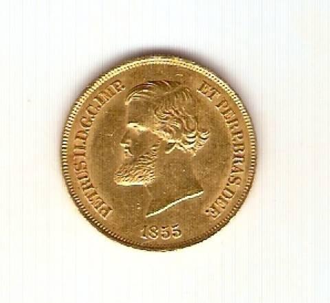 Catálogo Vieira Nº 637 - 10.000 Réis 1855 (Ouro) - Numismática Vieira