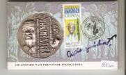 Medalha de Prata Comemorativa aos 100 Anos do Nascimento do Pixinguinha.
