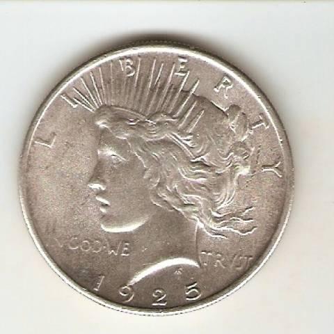 Moeda de Prata USA - 1 Dollar - Peace - Asa Fechada Datas Variadas - Numismática Vieira