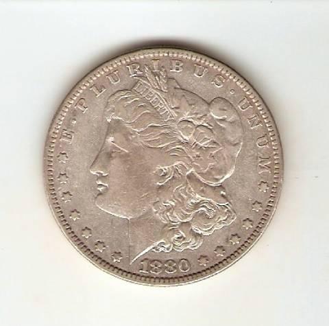 Moeda de Prata USA - 1 Dollar - Morgan - Asa Aberta - Numismática Vieira