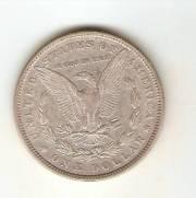 Moeda de Prata USA - 1 Dollar - Morgan - Asa Aberta