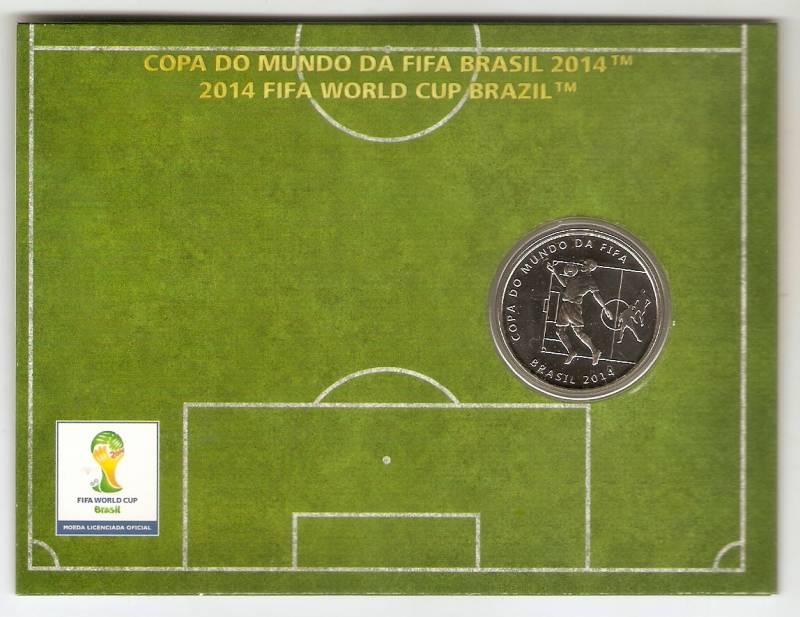 Moeda de Níquel Comemorativa Oficial da Copa do Mundo Brasil 2014 - A MATADA - Numismática Vieira