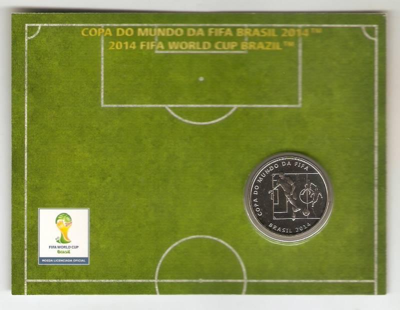 Moeda de Níquel Comemorativa Oficial da Copa do Mundo Brasil 2014 - O PASSE - Numismática Vieira