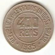 Catalogo Vieira No 122   400 Reis Niquel   1932