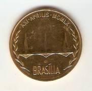 """Medalha de Ouro - Fundação de Brasília """"Oficial"""""""