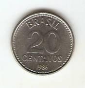 Catalogo Vieira No 10   20 Centavos Reforma Monetaria Aco   1986