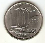 Catalogo Vieira No 5   10 Cruzeiros Seringueiro Reforma Monetaria Aco   1990