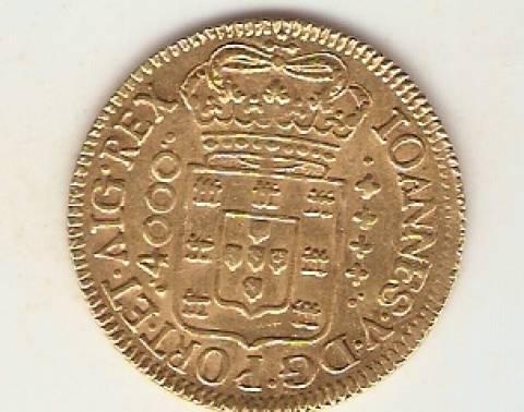 Catálogo Vieira Nº 46 - 4.000 Réis 1725 RRRR (Ouro) - Numismática Vieira