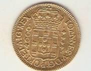 Catálogo Vieira Nº 46 - 4.000 Réis 1725 RRRR (Ouro)