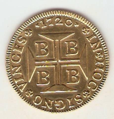 Catálogo Vieira Nº 61 - 4.000 Réis 1720 BBBB (Ouro) - Numismática Vieira