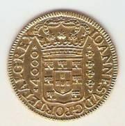 Catálogo Vieira Nº 61 - 4.000 Réis 1720 BBBB (Ouro)