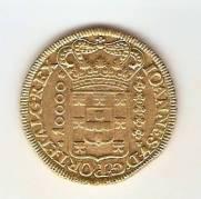Catálogo Vieira Nº 94 - 10.000 Réis 1725 MMMM (Ouro)