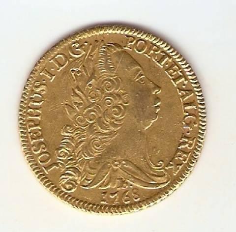 Catálogo Vieira Nº 332 - 6.400 Réis 1768 B (Ouro) - Numismática Vieira