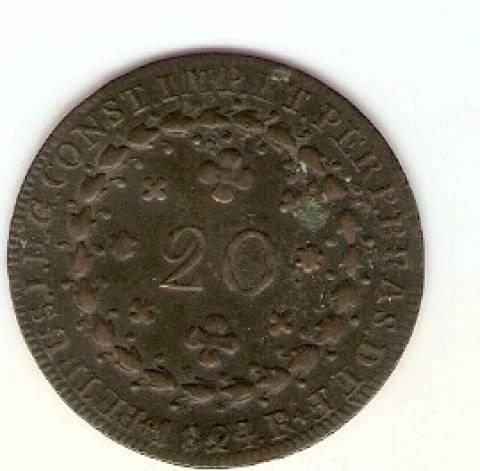 Catálogo Vieira Nº 593 - 20 Réis 1824R - Numismática Vieira