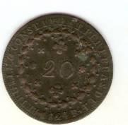 Catálogo Vieira Nº 593 - 20 Réis 1824R