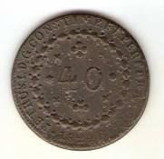 Catálogo Vieira Nº 575 - 40 Réis 1824R