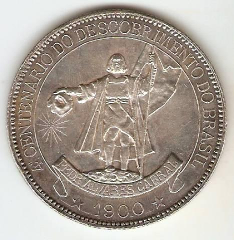 Catálogo Vieira Nº 547 4.000 Réis 1900 - 4º Centenário do Descobrimento do Brasil.