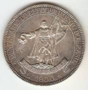 Catálogo Vieira Nº 547 4.000 Réis 1900 - 4º Centenário do Descobrimento do Brasil. | Numismática Vieira