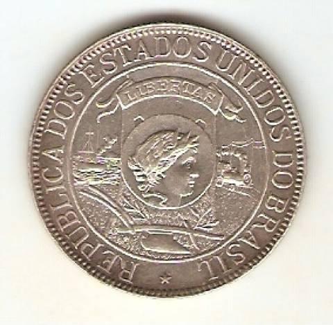 Catálogo Vieira Nº 549 1.000 Réis 1900 - 4º Centenário do Descobrimento do Brasil. - Numismática Vieira