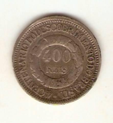 Catálogo Vieira Nº 550 400 Réis 1900 - 4º Centenário do Descobrimento do Brasil. - Numismática Vieira