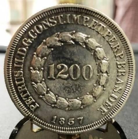 Catálogo Vieira Nº 404 1200 Réis 1837 - Série Cruzado - 1834 a 1848 - Numismática Vieira