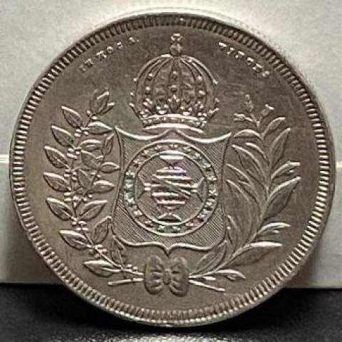 Catálogo Vieira Nº 416 800 Réis 1846 - Série Cruzado - 1834 a 1848 - Numismática Vieira