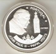 Moeda de Níquel comemorativa a Visita do Papa João Paulo II a Fátima (Portugal)