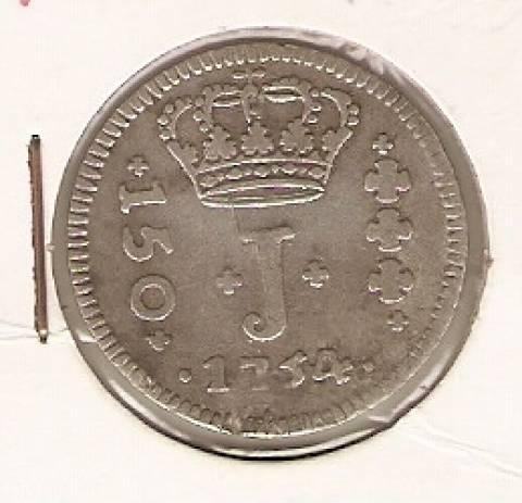 Catálogo Vieira Nº 114 - Série J - 150 Réis 1754B