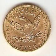 Moeda de Ouro 10 Dollars - Liberty